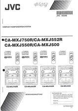 JVC manuale per ca-mxj 500/550r/750r/552r