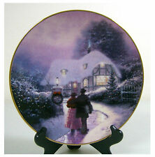 "Collectible plate Kinkade"" Home for the Holidays"" ""The Warmth of Home""Christmas"