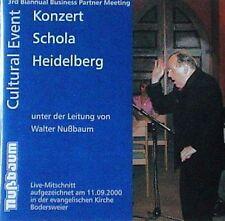 "CD "" Konzert Schola Heidelberg ""  Walter Nußbaum live Byrd Mozart Sor Beatles..."