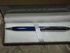 Cross Townsend Celestrial Blue Lacquer and Chrome Ballpoint pen