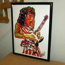 Eddie Van Halen, Lead Guitar, Guitarist, Edward Van Halen, 18x24 POSTER w/COA R