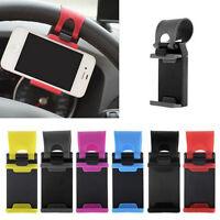 Universal Car Steering Wheel Clip Mount Holder Cradle Stand For Smart Phone *GPS