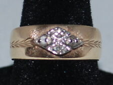 10k Gold ring with diamonds and a beautiful design