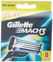 Gillette Mach3 Nachfüllpatrone Rasierklingen für Mach 3, 8 Stück