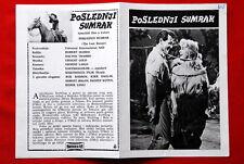 LAST SUNSET KIRK DOUGLAS ROCK HUDSON 1961 DOROTHY MALONE EXYU MOVIE PROGRAM