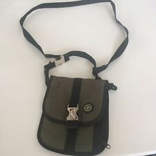 Hunter Green Travel Bag Passport ID Holder w Adjustable removable Shoulder Strap