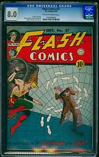 Flash Comics #57 CGC VF 8.0 Off-White to White