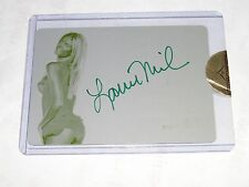 2010 Benchwarmer Signature LAURIE MILAN #96 Yellow Printing Plate Auto 1/1 Sexy