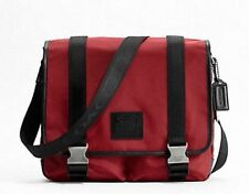 NWT 70422 Coach RED Nylon Messenger BRIEFCASE Laptop Crossbody VOYAGER Bag