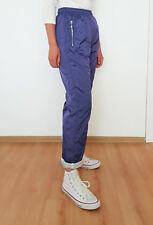 Vintage 90'S Reebok Purple Blue Track Pants Joggers Windbreaker Size S
