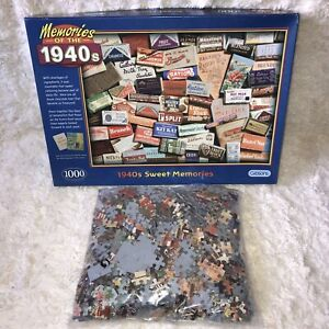 Gibsons 1000 Piece Jigsaw Puzzle - Memories Of The 1940s War Time Sweets
