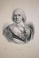 PAUL BARRAS Portrait LITHOGRAPHIE Gravure Delpech Infolio 1832