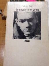 1984 PRIMO LEVI - SE QUESTO E' UN UOMO - EINAUDI