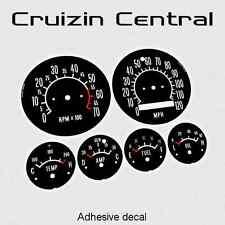 Plastic BLACK DECALS Holden Torana LC LJ GTR gauge dash tacho speedo adhesive