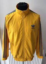 Adidas Vintage 90's Firebird Tracksuit Top Sweden Malmo Yellow Blue Size Medium