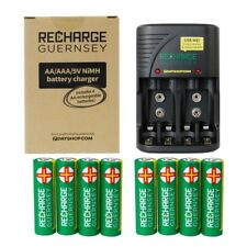 RG Battery Charger with 8x AA Rechargeable Batteries EXTRA VALUE KIT
