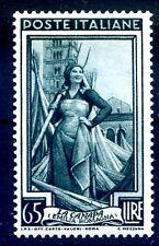 ITALIA 1955 - ITALIA AL LAVORO STELLE  Lire 65  NUOVO **