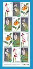 1999 Canada 46 Cent Stamps Canadian Orchids  Scott*1787 To 1790 Sheet Of 12
