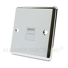 Polished Mirror Chrome Classical Telephone Socket Slave Phone Outlet CPCTELSWH