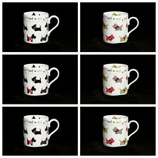 Scottie Dog bone china mugs SET OF 6 bone china mug Scotty Dogs design china mug