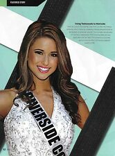 Nia Sanchez 8.5x11 Magazine ad Photo 2014 Miss USA Universe Picture Taekwondo 14