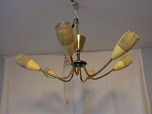 50er 50´s Mid Century Sputnick Decken Lampe Cieling Lamp #<