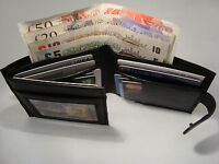 Gents Leather Wallet with 14 Credit Cards Slots and Back Zip RFID Protected