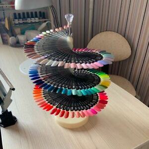 Fake Nails Display Stand 120 Sticks Nail Art Spiral Arts Showing Women Shelves