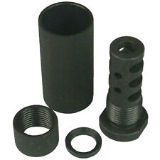 1/2X28 Muzzle Brake W 3/4x16 TPI Outer Sleeve Sound Forwarder+Protector+Washer