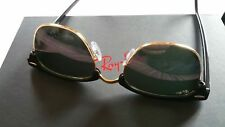 Mens Ray Ban RB3016 Clubmaster Sunglasses Gold with Black Frame.