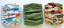 3 SMALL Male Dog Diaper Bugs Camping Print Belly Band Elastic 10 11 12 in Wrap