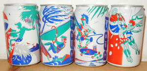 4 PEPSI COLA SURFING VOLLEYBALL BEACH cans set from HOLLAND (33cl)