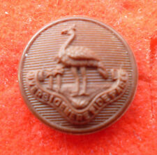 RHODESIAN ARMY BROWN COMPOSITE BUTTON APPROX 15MM DIAMETER