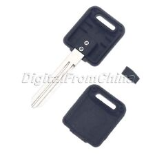 For 46 Nissan Black Uncut Ignition Blank Chipped Key Fob With Transponder Chip