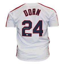 "Corbin Bernsen Autographed Baseball Jersey Major League The Movie ""Dorn"" (JSA)"