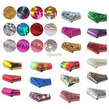 50 Styles Nail Art Wrap Foils Glitter Decal Manicure Gel Polish Stickers    35DI