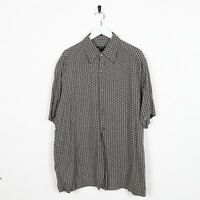 Vintage 90s ABSTRACT Short Sleeve Festival Shirt Large L