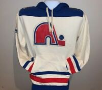 Quebec Nordiques NHL Vintage Hockey Majestic Pullover Fleece Hoodie Medium NEW
