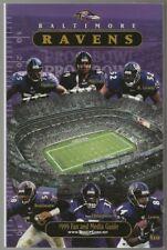 1999 Baltimore Ravens NFL Football Media Guide