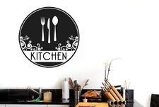 Kitchen Cutlery Circle Vinilo Pegatinas De Pared Adhesivo Decoración