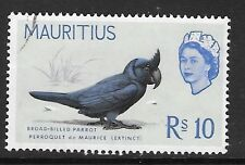MAURITIUS SG331 1965 R10  BIRD (BROAD BILLED PARROT ) FINE USED