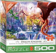 "Eurographics  -  ""Dragon Kingdom"" - 500 Lg Piece Jigsaw Puzzle NEW"
