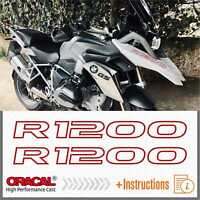 2x R1200 Red BMW R 1200 GS 13-17 LC ADESIVI PEGATINA STICKERS AUTOCOLLANT