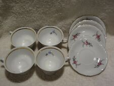 Royal Kent pottery cups and saucers.  lot of 4.