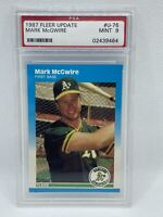 1987 Fleer Update Mark McGwire Rookie RC #U-76 Oakland Athletics PSA 9 MINT