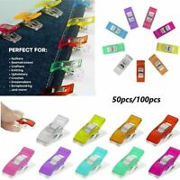 UK 10/50/100PCS Wonder Clips For Quilting Knitting Craft Fabric Crochet Sewing