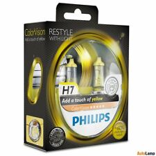 2x H7 PHILIPS Color Vision 12V 55W PX26d Yellow Car Halogen Bulbs 12972CVPYS2