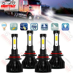 For 1998-15 Mack Vision Truck 9005 9006 Hi/Lo LED Headlight Bulbs Replacement