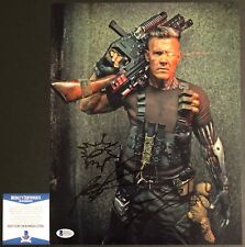 Josh Brolin Signed 11x14 w/Rob Liefeld Sketch Cable Deadpool 2 Beckett BAS