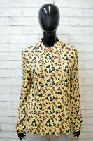Camicia Donna Max & Co Vintage Taglia 44 Manica Lunga Shirt Woman Floreale Hemd